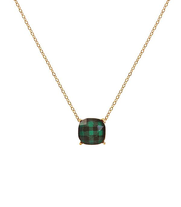 New Arrival :: Wholesale Buffalo Plaid Pattern Cushion Necklace