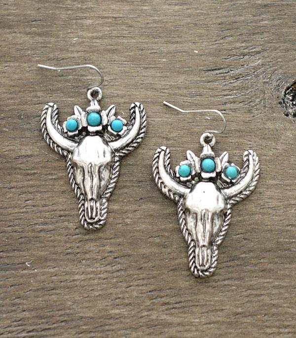 New Arrival :: Wholesale Western Style Longhorn Earrings