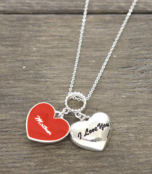 <font color=red>VALENTINE'S</font> :: Wholesale Heart Charm Necklace