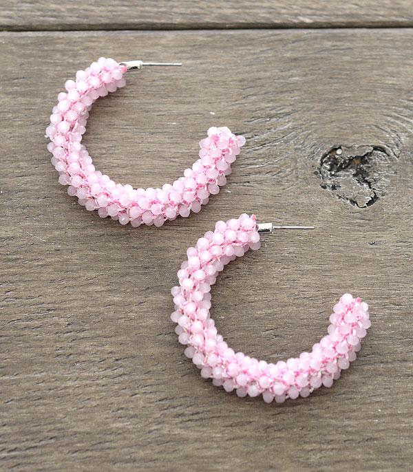 <font color=red>VALENTINE'S</font> :: Wholesale Beaded Hoop Earrings