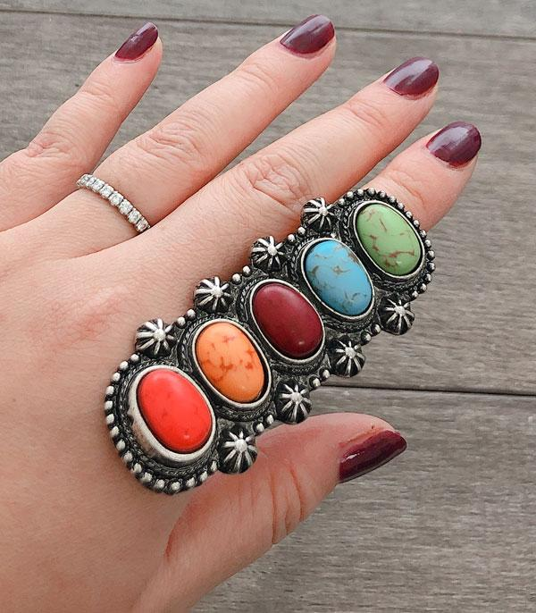 New Arrival :: Wholesale Oversized Turquoise Western Ring