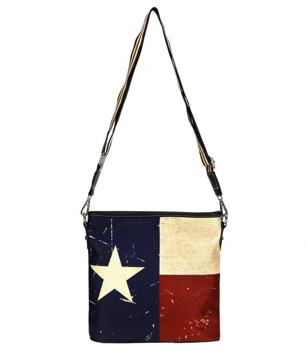 New Arrival :: Wholesale Montana West Texas Flag Canvas Crossbody