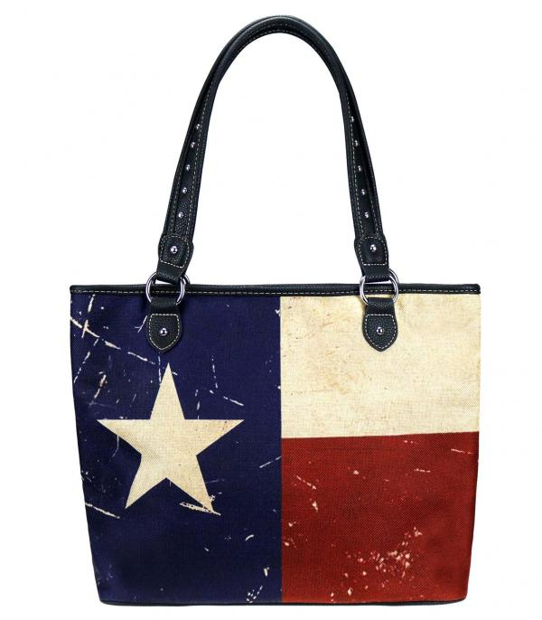 New Arrival :: Wholesale Montana West Texas Flag Canvas Tote