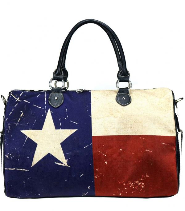 New Arrival :: Wholesale Texas Flag Canvas Duffle Bag