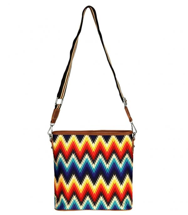 New Arrival :: Wholesale Montana West Zig Zag Canvas Crossbody