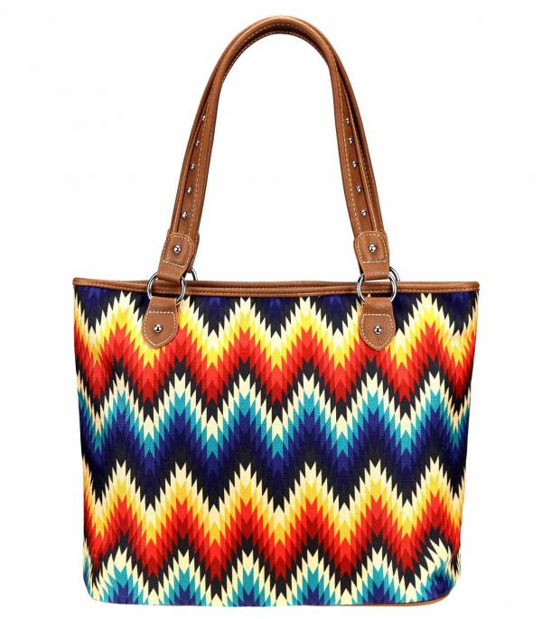 New Arrival :: Wholesale Montana West Zig Zag Canvas Tote