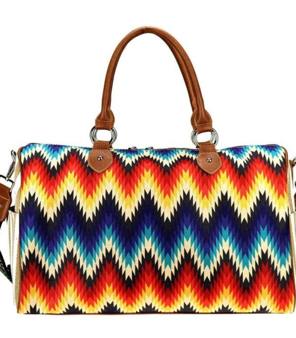 New Arrival :: Wholesale Montana West Zig Zag Canvas Duffle