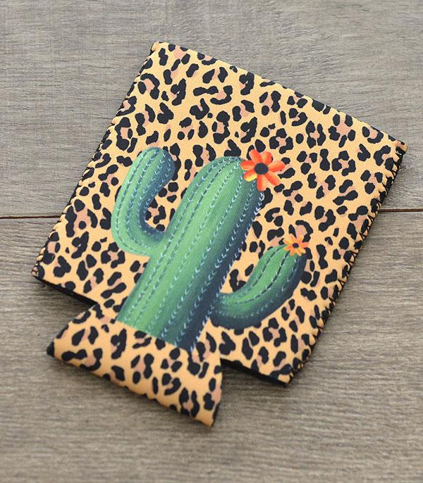 New Arrival :: Wholesale Leopard Cactus Print Drink Sleeve