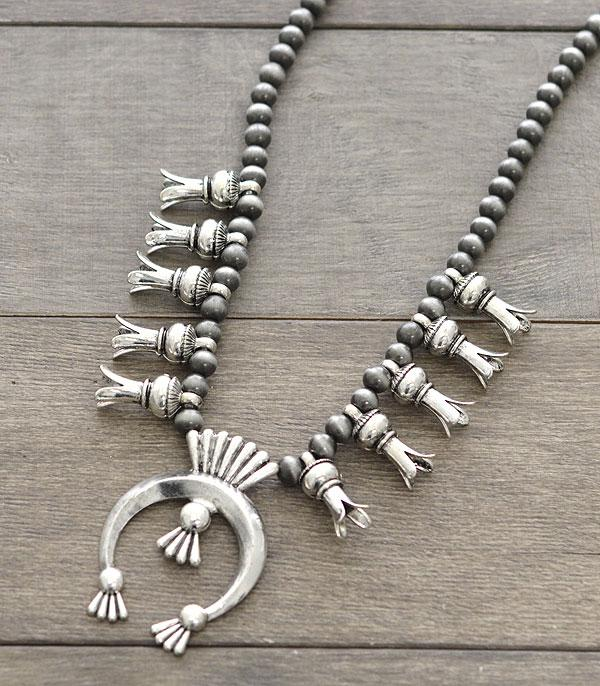 New Arrival :: Wholesale Squash Blossom Long Necklace