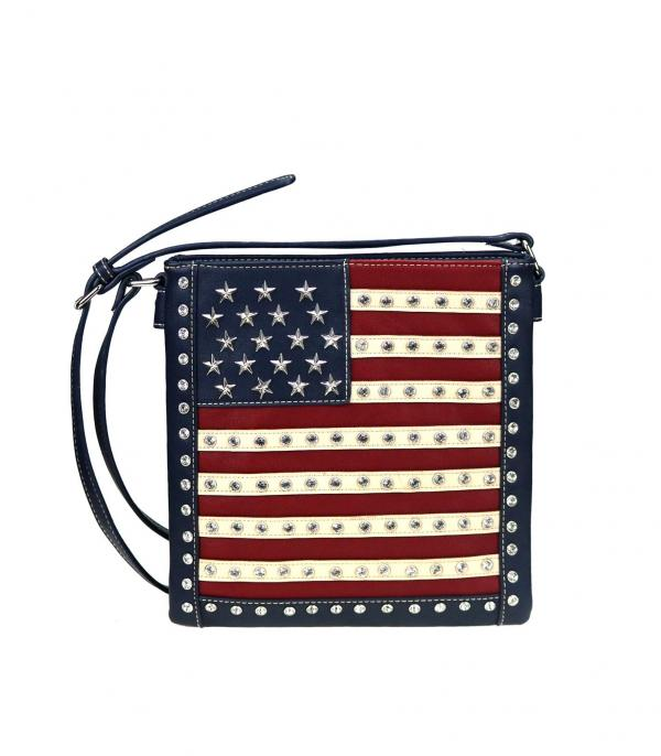 <font color=BLUE>RED,WHITE, AND BLUE</font> :: Wholesale Montana West Concealed Crossbody Bag