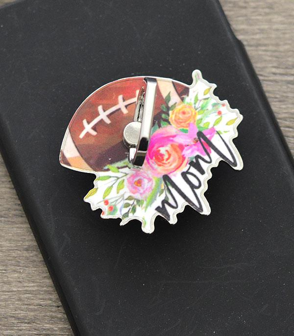 PHONE ACCESSORIES :: Wholesale Football Mom Phone Grip