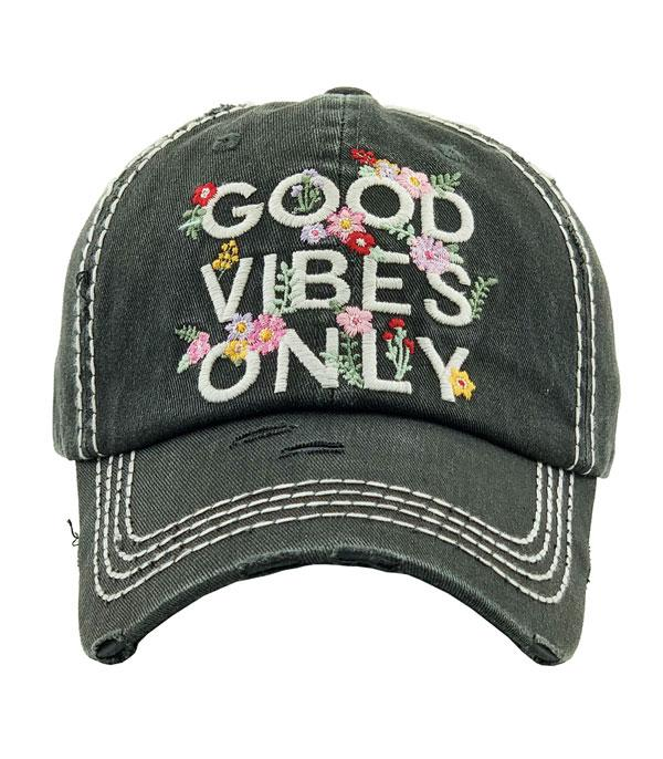 New Arrival :: Wholesale Good Vibes Only Vintage Ballcap