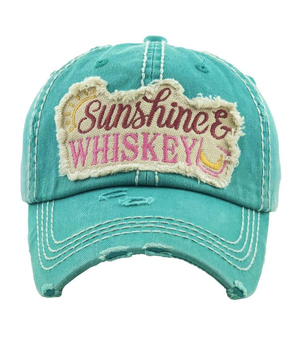 New Arrival :: Wholesale Sunshine Whiskey Vintage Ballcap