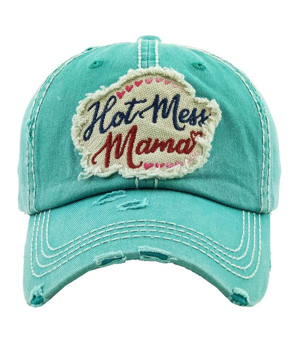 New Arrival :: Wholesale Hot Mess Mama Vintage Ballcap