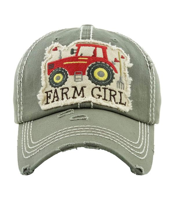 New Arrival :: Wholesale Farm Girl Vintage Ballcap