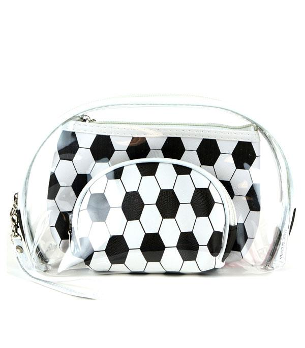 New Arrival :: Wholesale Soccer Ball Print Cosmetic Bag Set
