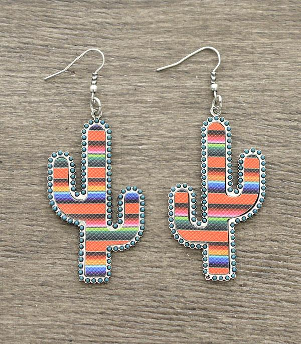 New Arrival :: Wholesale Cactus Serape Earrings