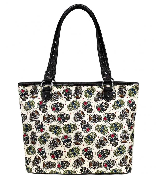 New Arrival :: Wholesale Sugar Skull Canvas Tote Bag