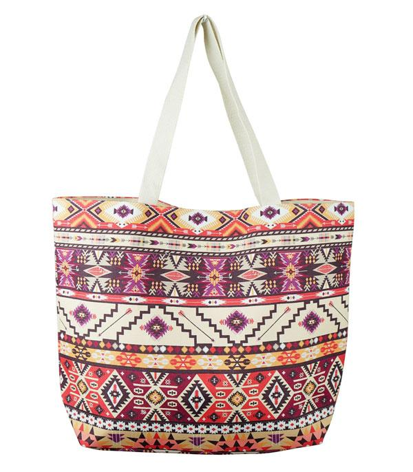 New Arrival :: Wholesale Aztec Print Tote Bag