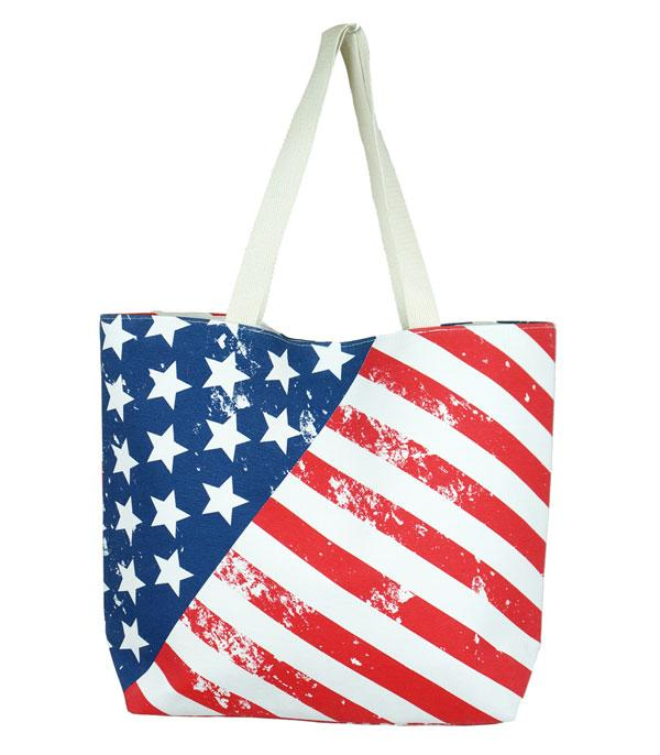 New Arrival :: Wholesale American Flag Print Tote Bag