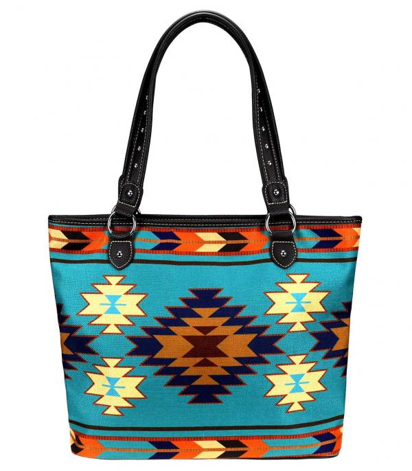 New Arrival :: Wholesale Montana West Aztec Canvas Tote