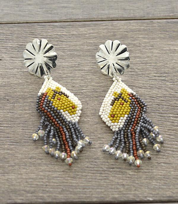 New Arrival :: Wholesale Handmade Horse Seed Bead Earrings