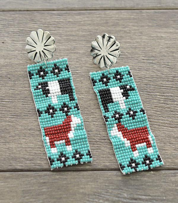 New Arrival :: Wholesale Handmade Farm Animal Seed Bead Earrings