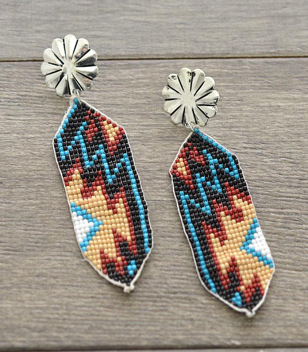 New Arrival :: Wholesale Handmade Aztec Seed Bead Earrings