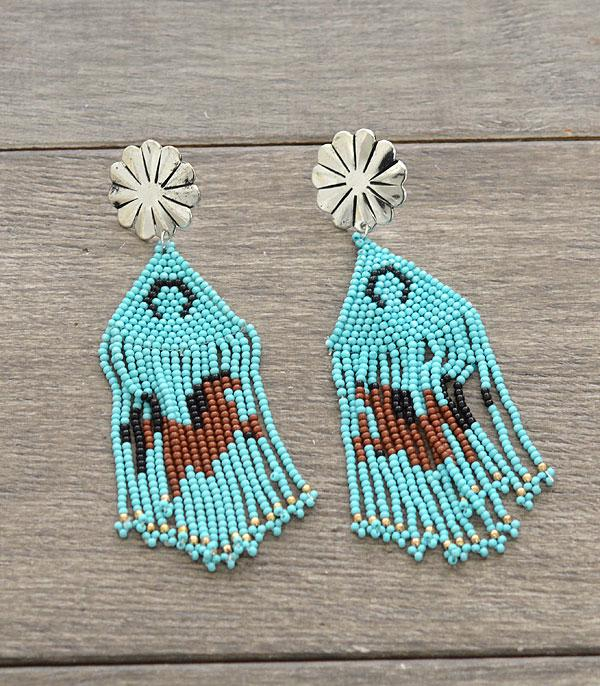 New Arrival :: Wholesale Handmade Western Seed Bead Earrings