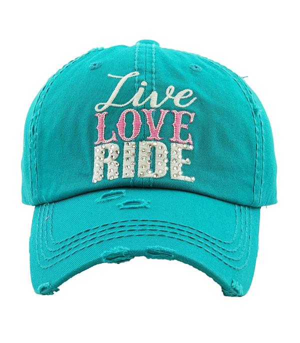 New Arrival :: Wholesale Live Love Ride Vintage Ballcap