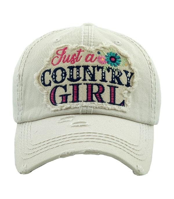 New Arrival :: Wholesale Just A Country Girl Vintage Ballcap