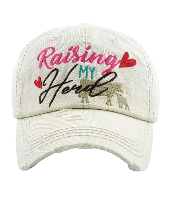 New Arrival :: Wholesale Raising My Herd Vintage Ballcap