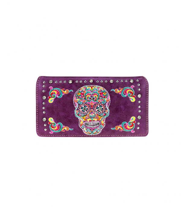 New Arrival :: Wholesale Montana West Sugar Skull Wallet