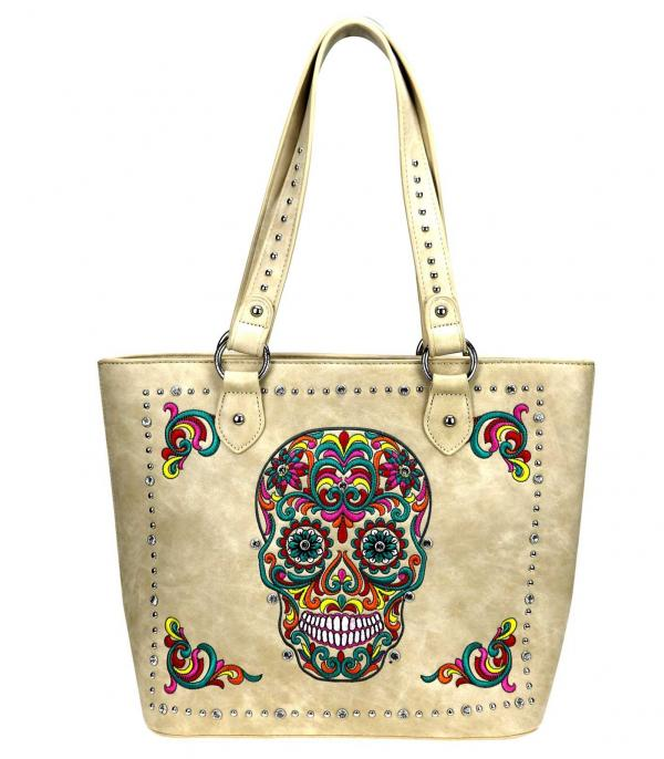 New Arrival :: Wholesale Sugar Skull Concealed Handgun Tote
