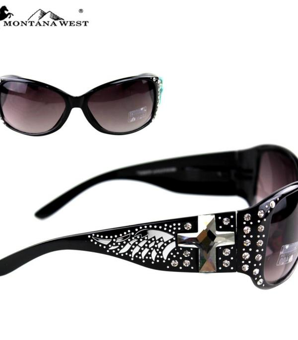New Arrival :: Wholesale Cross Wing Bling Sunglasses