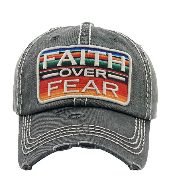 New Arrival :: Wholesale Faith Over Fear Vintage Hat