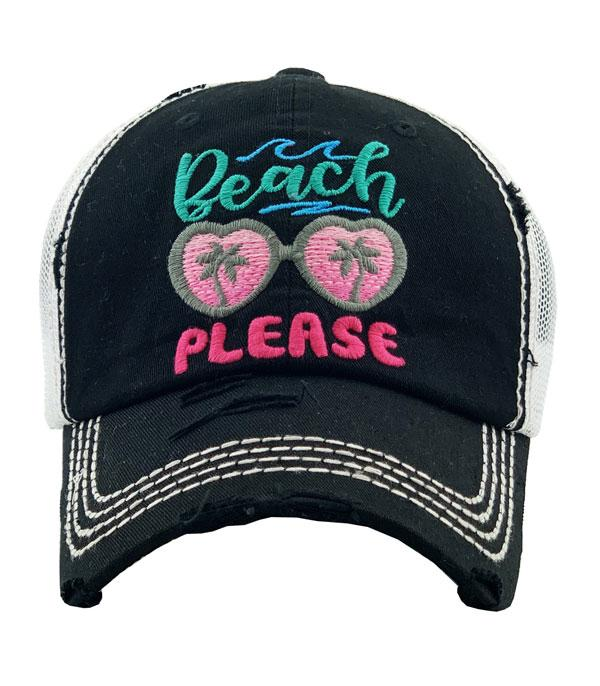 New Arrival :: Wholesale Beach Please Vintage Hat