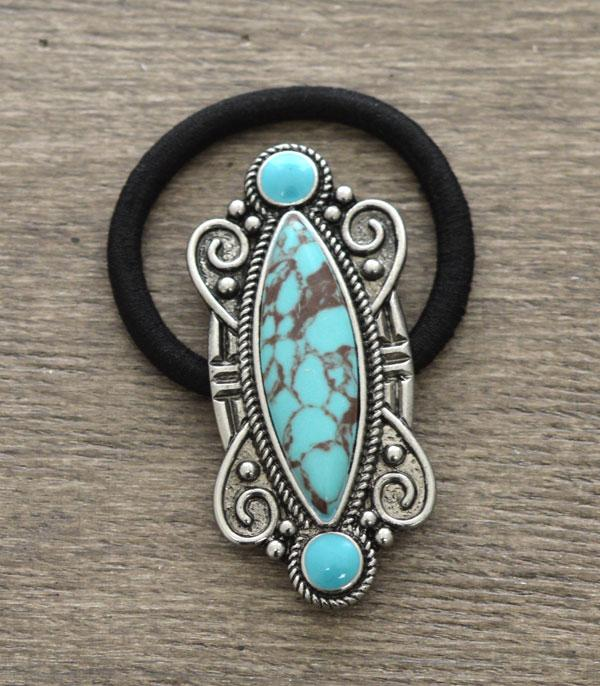 New Arrival :: Wholesale Turquoise Stone Hair Tie