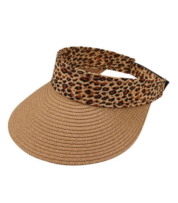New Arrival :: Wholesale Leopard Trim Sun Visor