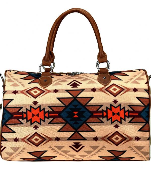 New Arrival :: Wholesale Aztec Canvas Weekender Bag