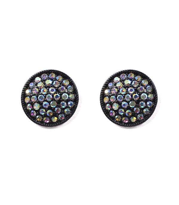 New Arrival :: Wholesale Rhinestone Post Circle Earrings