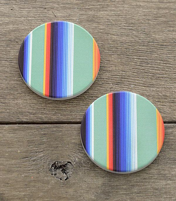 New Arrival :: Wholesale Serape Print Car Coaster Set