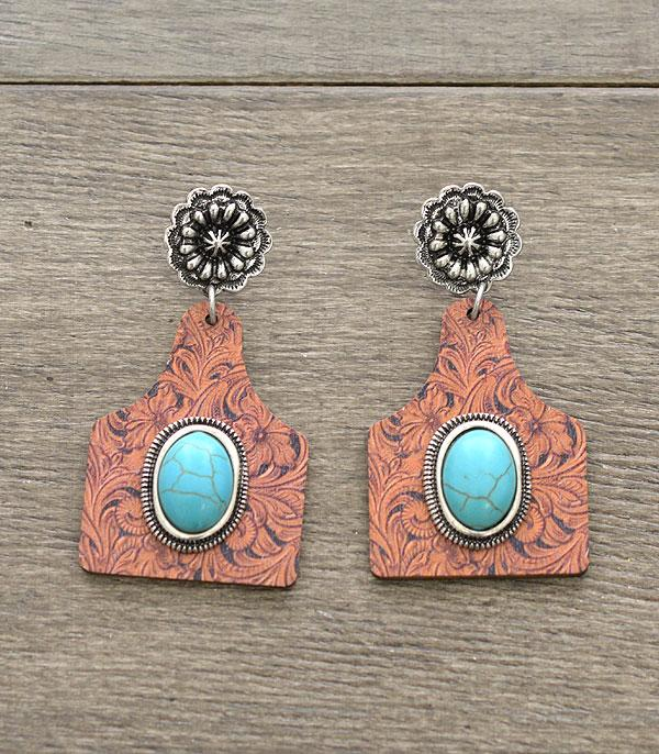 New Arrival :: Wholesale Wooden Cattle Tag Earrings