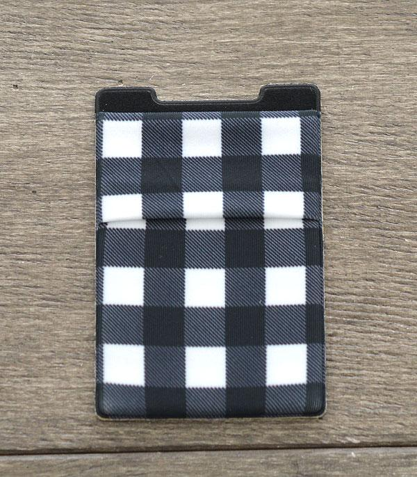 New Arrival :: Wholesale Plaid Stick-On Credit Card Wallet