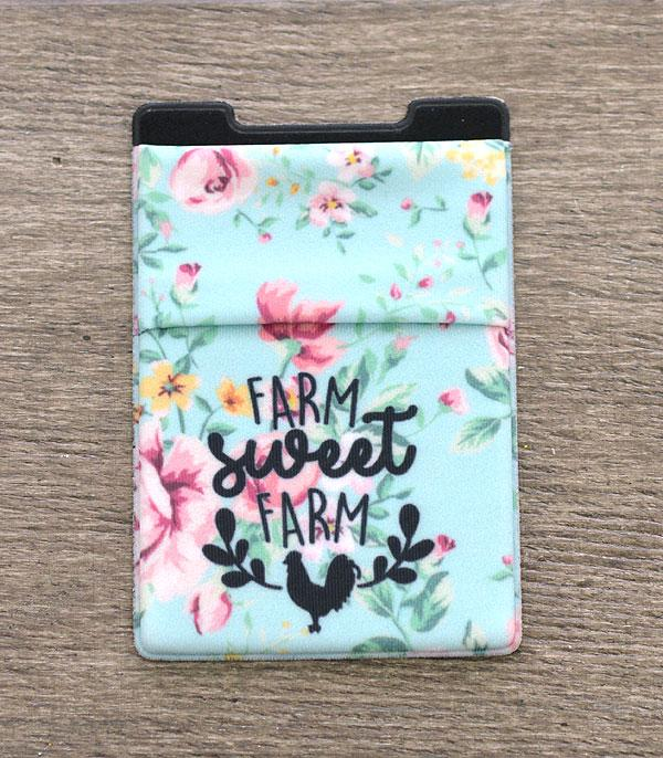 New Arrival :: Wholesale Farm Sweet Farm Stick-On Card Wallet