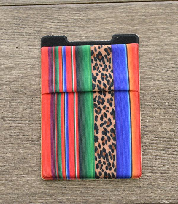 New Arrival :: Wholesale Serape Leopard Stick-On Card Wallet