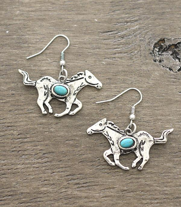 New Arrival :: Wholesale Western Running Horse Earrings