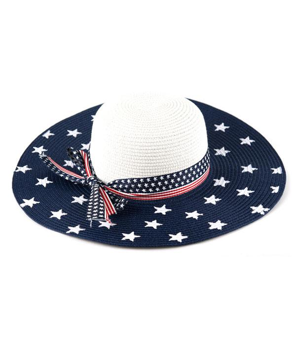 New Arrival :: Wholesale American Flag Straw Hat