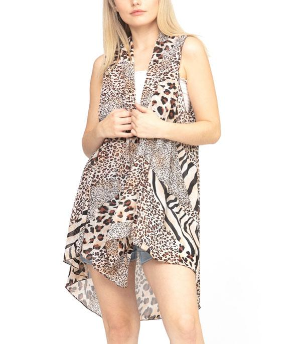 New Arrival :: Wholesale Mixed Animal Print Vest