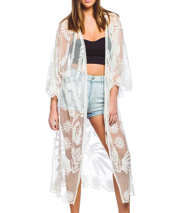 New Arrival :: Wholesale Lace Duster Kimono CoverUp